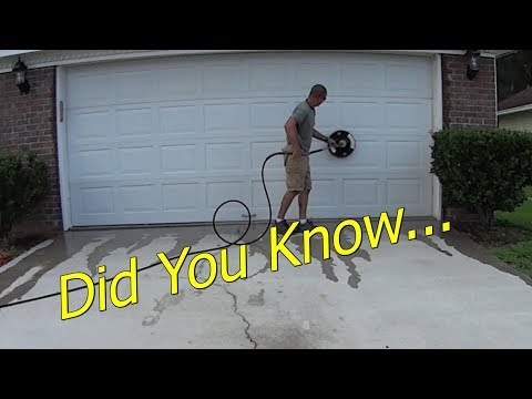 Chemical Free Surface Cleaning Concrete Driveway - Time Lapse Pressure Wash Job