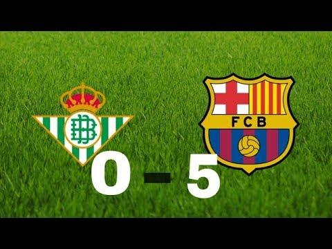 Real Betis vs Barcelona 0-5 2018 • Gol de messi, Gol de suarez 2018/2017