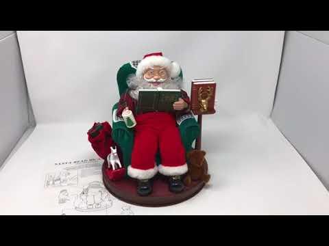 SANTA READ ME A STORY AVON COLLECTIBLE RARE ANIMATED MUSICAL CHRISTMAS HOLIDAY
