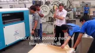 Stainless steel blank sheet polishing machine single head valgro brush station