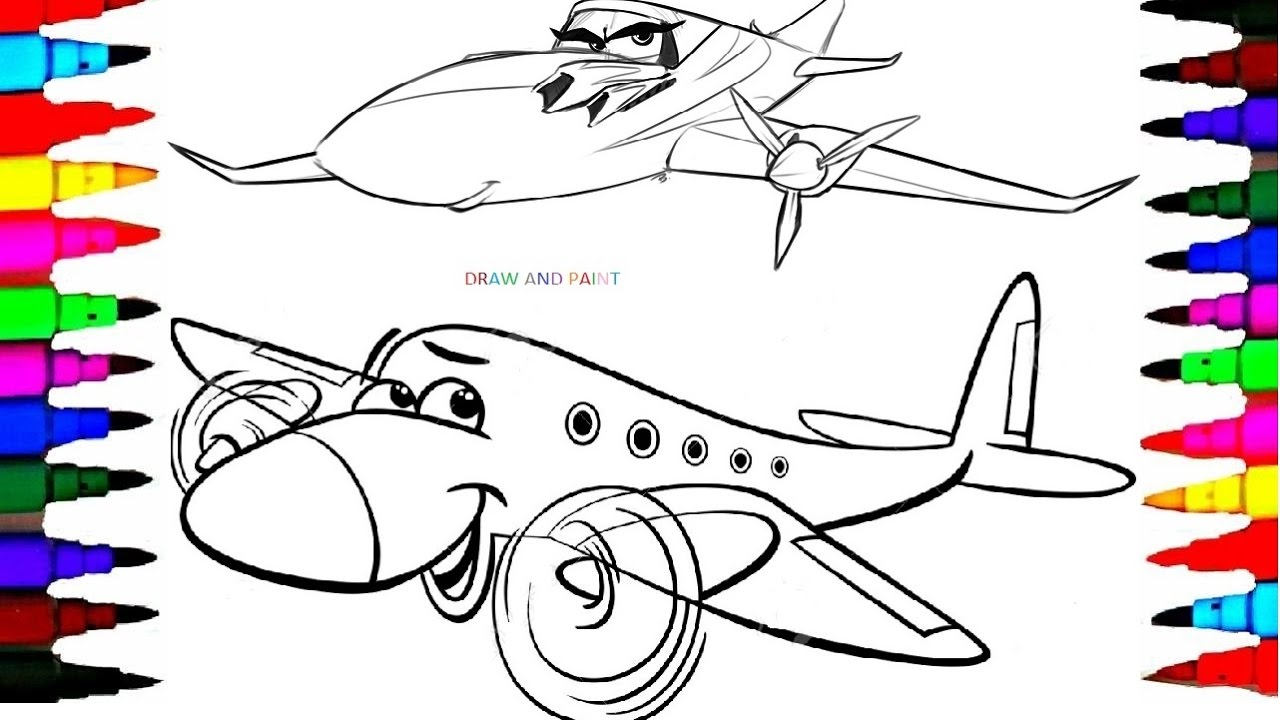 It is an image of Selective Easy Airplane Drawing