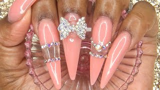 Acrylic Nails Tutorial - How To Encapsulated Nails - Glass Nails - Acrylic Infill - Clear Nails