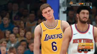 Lakers @ Knicks (full game ) prozingas back at his former team