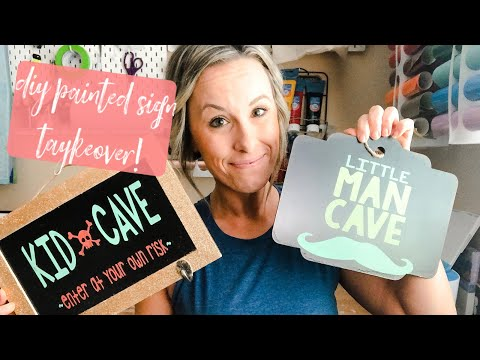Easy DIY Stencil with Stencil Vinyl, Glitter, AND Your CRICUT! | This Week's Auntie Tay TAYKEOVER!
