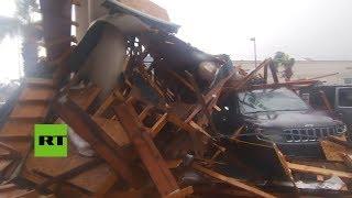 Captan la devastación del huracán Michael a su paso por Florida
