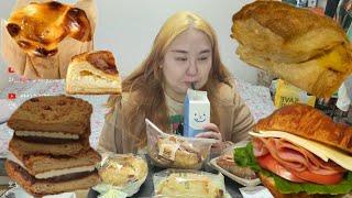 뚜레쥬르 빵먹방♥앙호두버터샌드 유자파이 구운치즈케이크 …