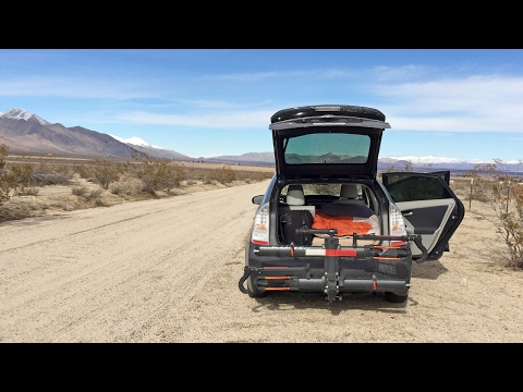 Stealth Car Camping in a Toyota Prius (Building a Bed, Stayi
