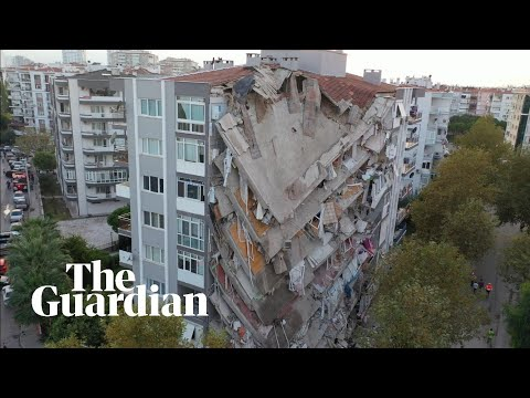 Aftermath in İzmir as 7.0-magnitude earthquake hits Turkey and Greece