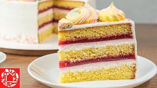 Как приготовить вкусный торт Бисквитный торт с малиной и сметанным кремом