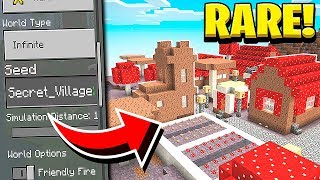 RARE MUSHROOM VILLAGE SEED in Minecraft! (Pocket Edition, PS4, Xbox, PC, Switch)