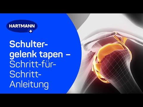 Schultergelenk tapen: Anwendung