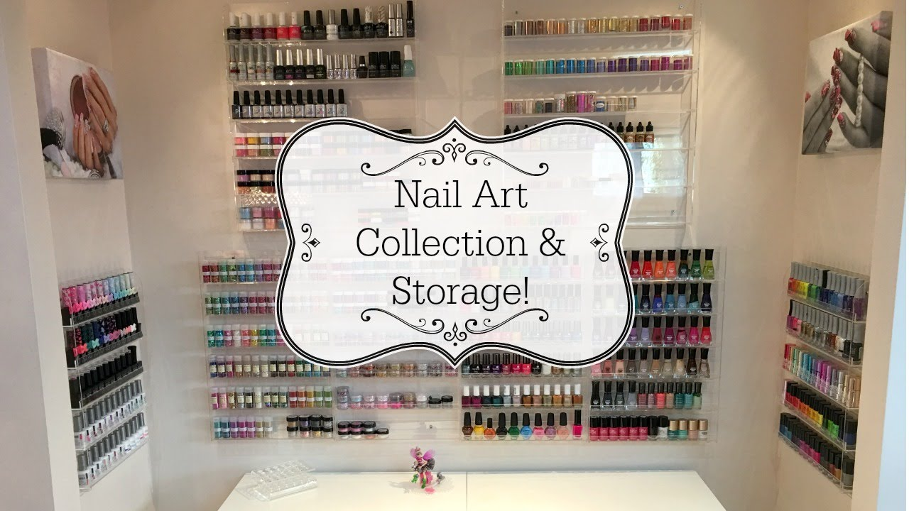 Nail Art Collection & Storage!! - YouTube