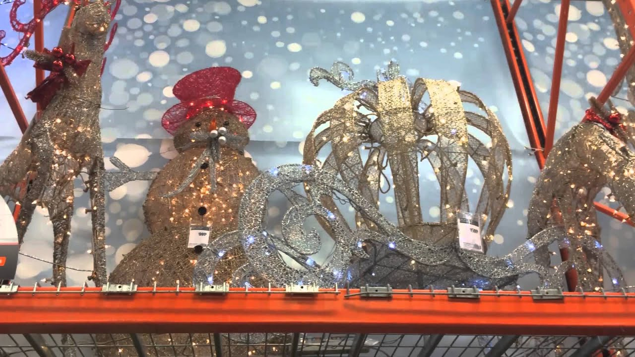 home depot christmas decor 2015 youtube - Home Depot Christmas Decorations