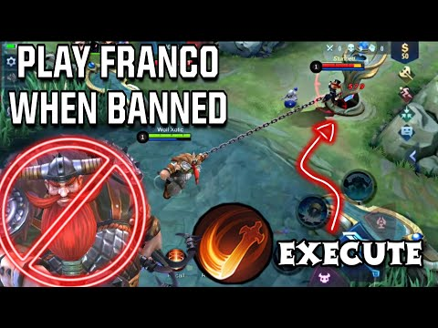 FRANCO EXECUTE 🔥 FRANCO IS NOT BANNED! TRICK TO PLAY FRANCO   WOLF XOTIC   MOBILE LEGENDS