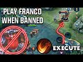 FRANCO EXECUTE 🔥 FRANCO IS NOT BANNED! TRICK TO PLAY FRANCO | WOLF XOTIC | MOBILE LEGENDS