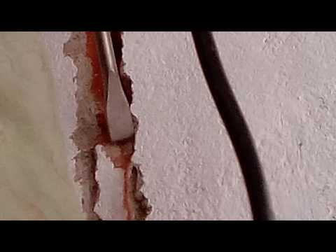 Chase cutting for concealed wiring