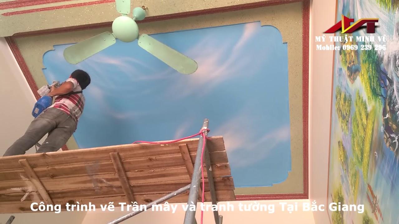 Trần mây   Vẽ tranh tường  Bắc Giang  Bắc Ninh  Hà Nội Và các tỉnh lân cận