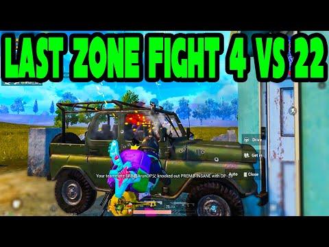 last-zone-fight-at-near-shelter-4-vs-22-in-pubg-mobile