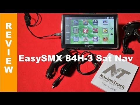 EasySMX Car Satellite Navigation Unit model 84H-3 Review - 동영상