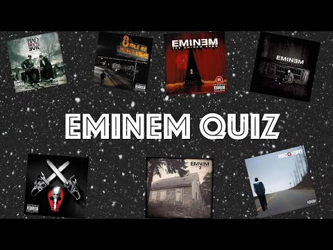 Eminem Quiz - Try to Guess the Eminem song CHALLENGE!