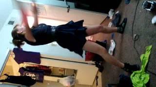 My sister dancing to Crime Mob Rock yo Hips