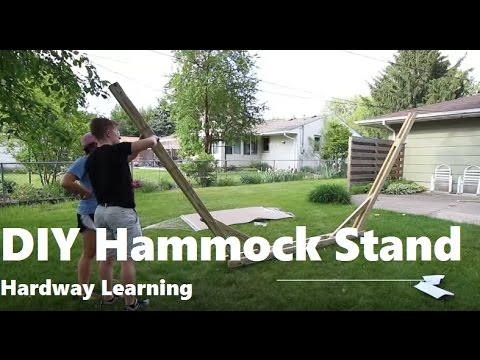 Medium image of how to build a hammock stand diy