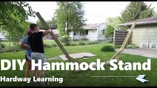 How to DIY hammock stand out of wood. We teach you how to build a hammock stand if you do not have properly spaced trees! This