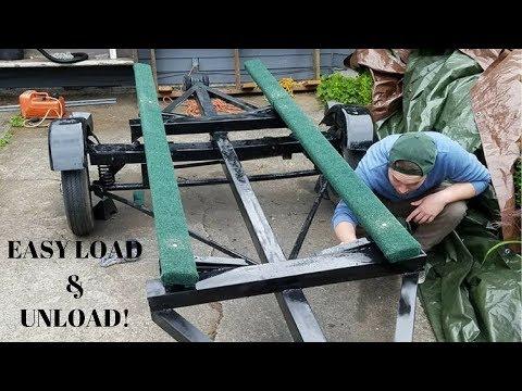 DIY Jon boat trailer build, With Boat Bunks!