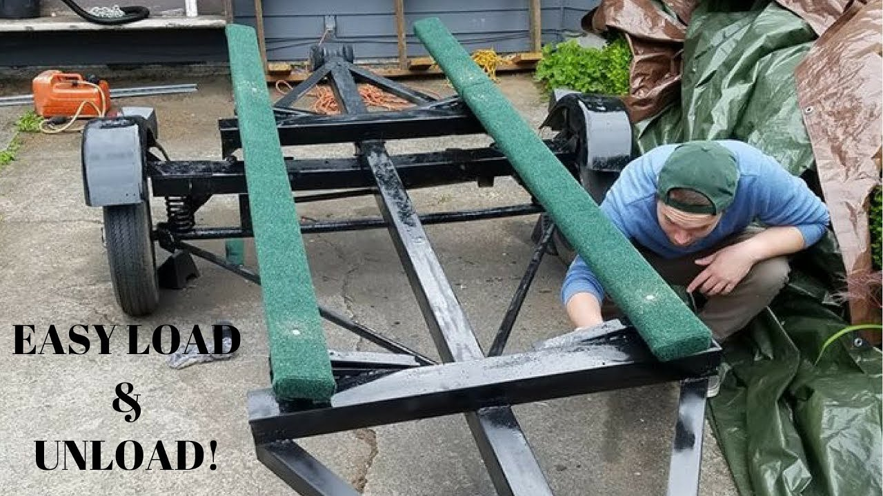 Diy Jon Boat Trailer Build With Boat Bunks