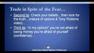 3 Options Trading Tips - Fear, Lack of Courage or Self-Confidence, and Feelings of Inadequacy