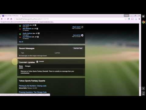 Yahoo Fantasy Baseball Tutorial – League