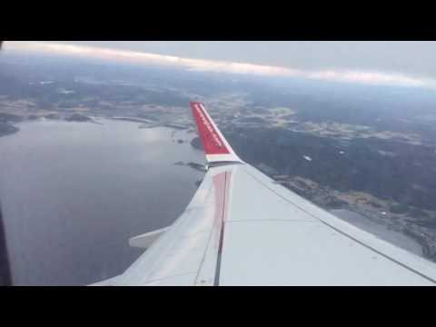 Take off from Trondheim AirPort Værnes