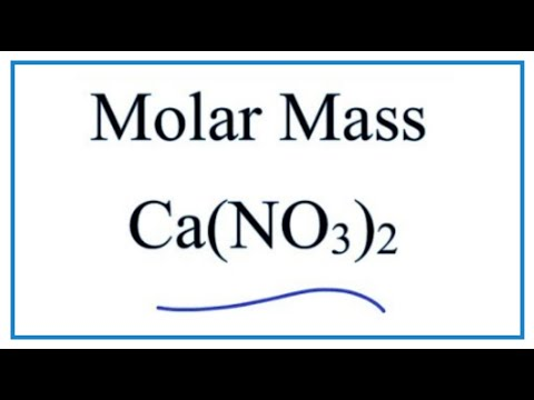 Molar Mass / Molecular Weight Of Ca(NO3)2   ---  Calcium Nitrate