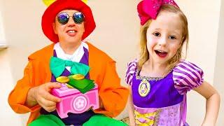 Nastya und Papa nähen neue Kleider, lustige Serien für Kinder
