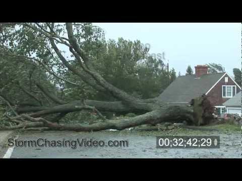 Hurricane Irene Groton Long Point, CT Stock Video Part 2