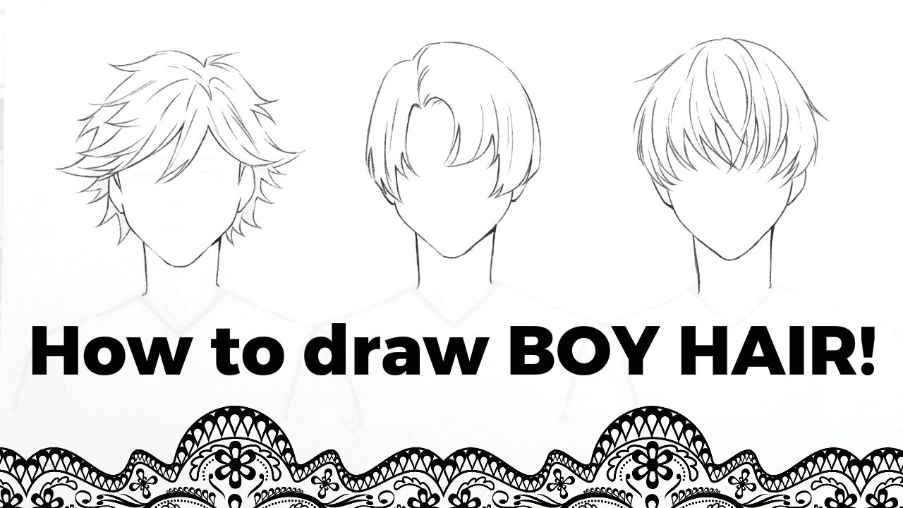 draw boy hair