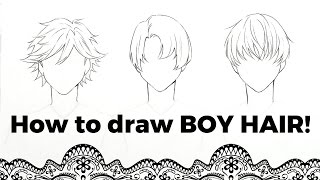 --How to Draw! Boy Hair!--