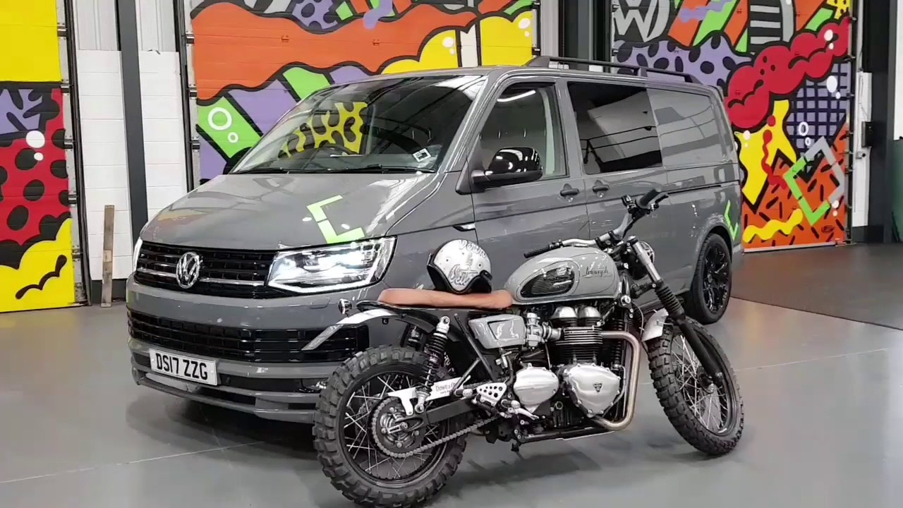 b3f422ae5f Pure Grey VW T6 Kombi Highline Spec With Sportline Pack   Matching Cafe  Racer