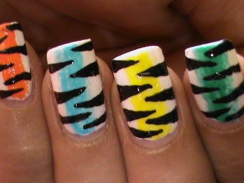 Rainbow Nail Art Designs: Do it yourself Like In a Salon! - YouTube