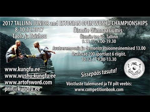 Estonian Wushu TV Live Stream: Estonian Wushu Open Championships 9-10.12.2017
