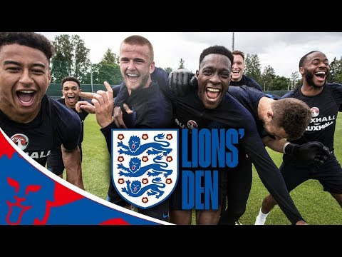 LIVE England Training Ahead of Panama! | Lions' Den Episode…