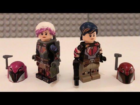 Lego Star Wars Rebels Custom Sabine Wren Season 3 - YouTube