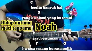 Kunci Gitar Noah Hidup Untukmu Mati Tanpamu |Tutorial By Darmawan Gitar