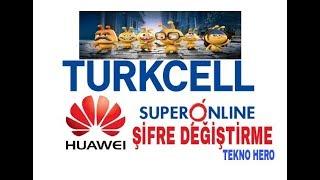 Turkcell SuperOnline WİFİ Şifre Değiştirme - HUAWEI - Güncel Detaylı - Tekno Hero