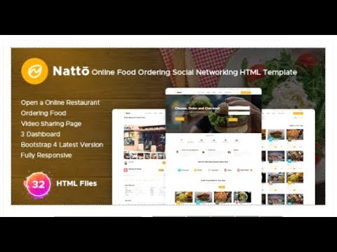 Natto - Online Food Ordering Social Networking Html Template | Themeforest  Templates