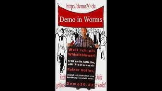 Ständige Demo in Worms gegen die Staatsanwaltschaft Mainz, Amtsgericht Worms und Landgericht Mainz