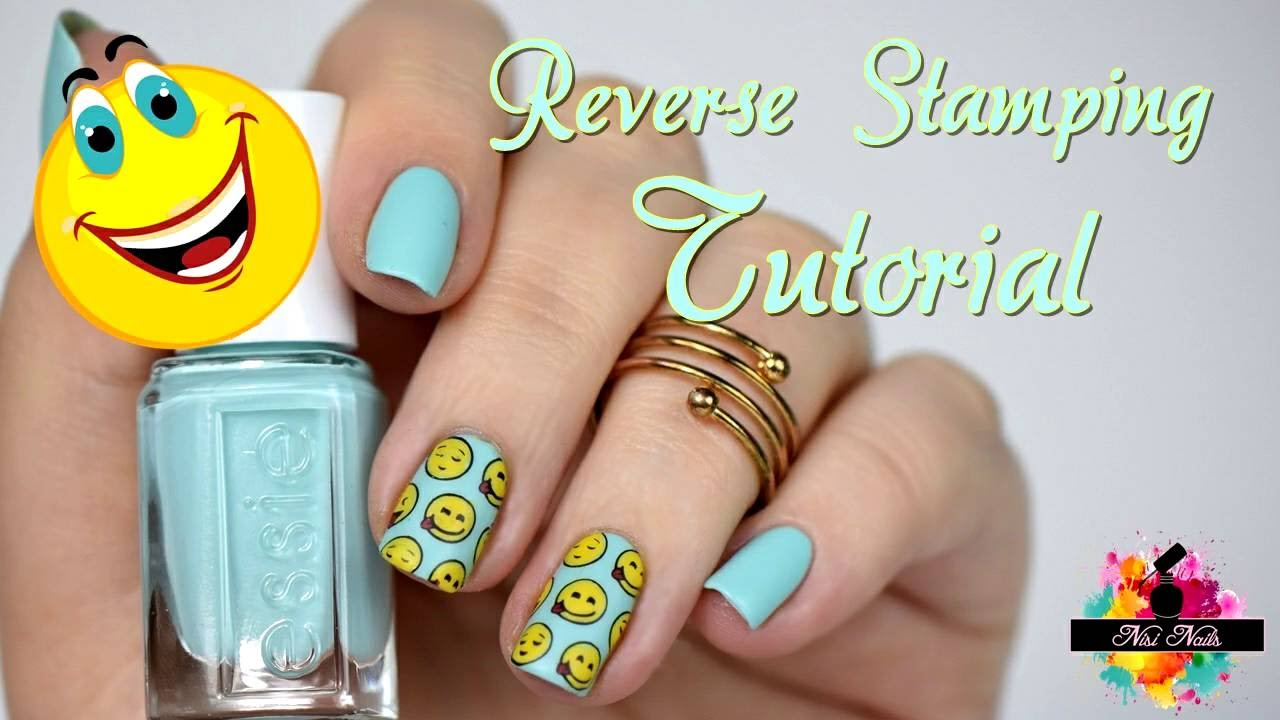 Reverse Stamping Nageldesign mit Smileys | Sommer Nägel | Easy Nail ...