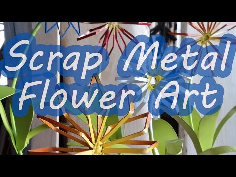 Scrap Metal Flower Yard Art