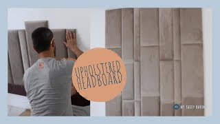 Hey! In this video I show how my handyman was able to apply upholstered panels to my bedroom wall to create a beautiful headboard in just 10 minutes!
