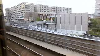 JR東日本E217系MT68 側面展望 新川崎→横浜(横須賀線) クラY-19編成